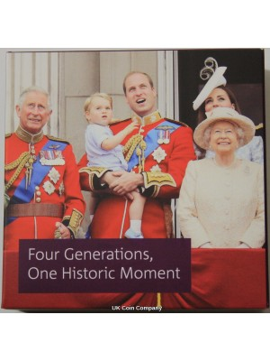 2018 Four Generations Of Royalty UK Silver Proof £5 Five Pound Coin Royal Mint