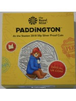 2018 Paddington Bear At The Station Silver Proof 50p Fifty Pence Royal Mint Coin