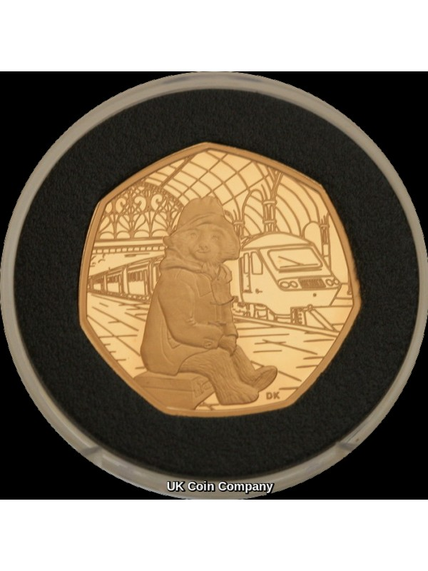 2018 Paddington Bear At The Station Gold Proof 50p Fifty Pence Royal Mint Coin