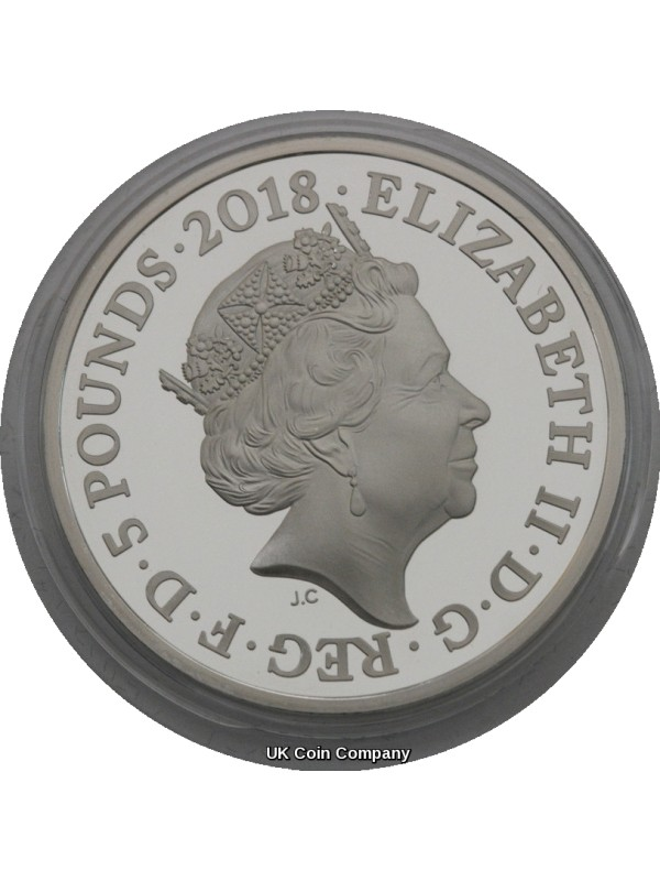2018 Prince Charles £5 Silver Proof Coin Celebrating 70th Birthday