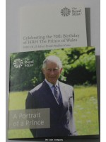 2018 Prince Charles £5 Silver Proof Piedfort Coin Celebrating 70th Birthday Low Cert Number