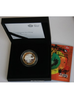 2018 RAF Royal Air Force Sea King £2 Two Pound Silver Proof Piedfort New Coin Issued By The Royal Mint