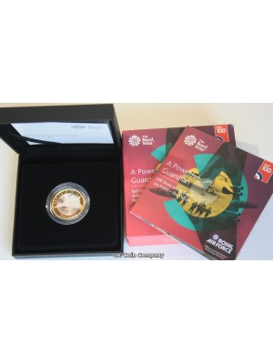 2018 RAF Vulcan Bomber UK £2 Silver Proof Coin Issued By The Royal Mint