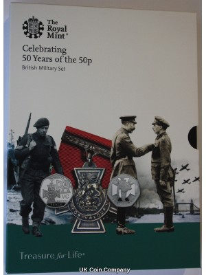 2019 Royal Mint United Kingdom British Military Celebrating 50 Years Of The 50p Proof Coin Set