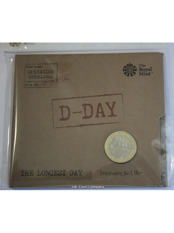 2019 D Day Landings £2 Two Pounds Coin Brilliant Uncirculated Royal Mint Coin Pack