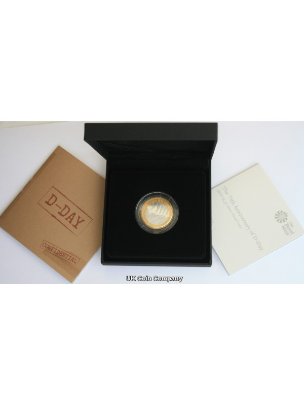 2019 D Day 75th Anniversary Silver Proof £2 Two Pounds Royal Mint Coin