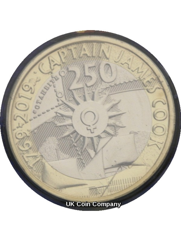 2019 Captain James Cook £2 Two Pounds Brilliant Uncirculated Royal Mint Coin Pack Second Edition
