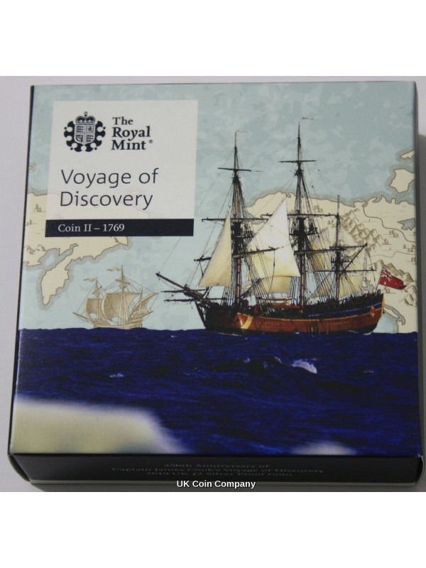 2019 Captain James Cook £2 Two Pounds Silver Proof Royal Mint Boxed Coin - New Second Issue