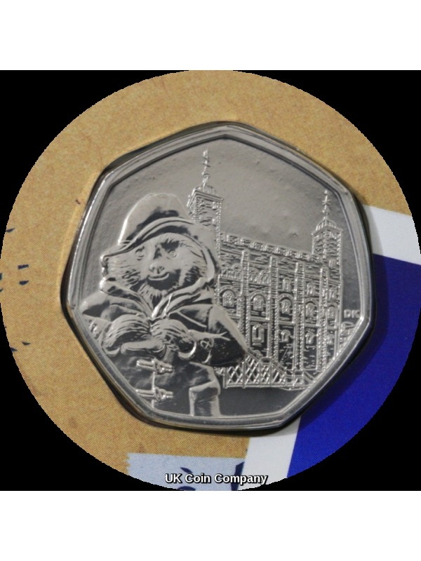 2018 Paddington Bear At The Tower BU 50p Fifty Pence Coin Pack