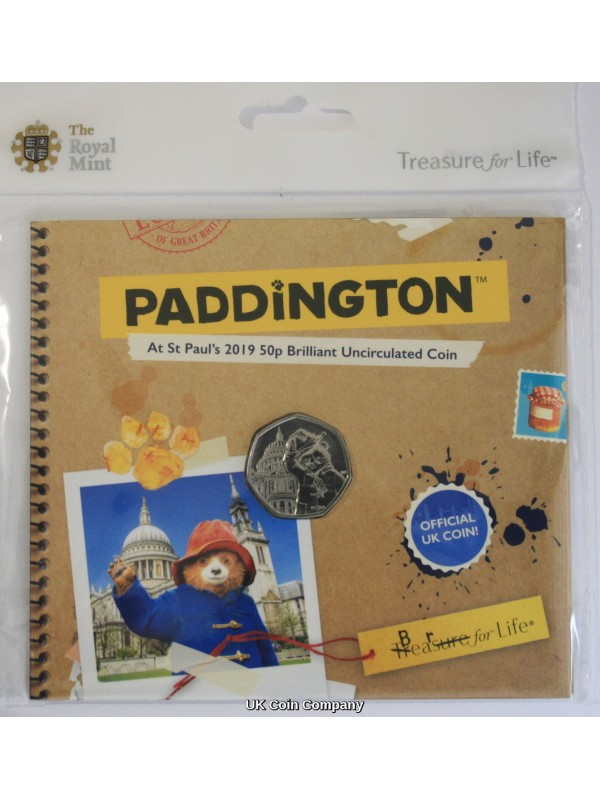 2019 Paddington Bear At St Pauls Cathedral Brilliant Uncirculated  50p Fifty Pence Coin Pack