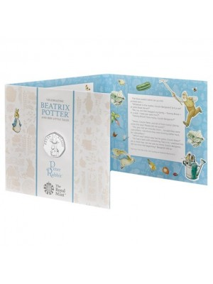 2019 Peter Rabbit Brilliant Uncirculated 50p Royal Mint Coin Pack Beatrix Potter Series