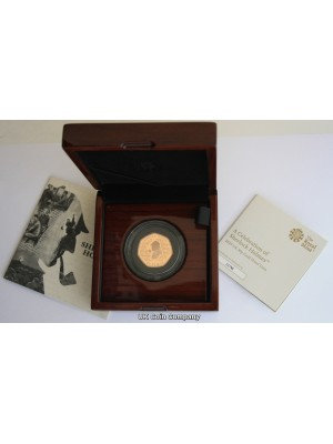 2019 Sherlock Holmes Sir Arthur Conan Doyle Royal Mint Gold Proof 50p Fifty Pence Coin Limited issue of only 400 made