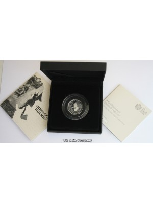 2019 Sherlock Holmes Silver Proof Royal Mint 50p Fifty Pence Piedfort Coin