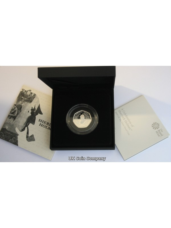 2019 Sherlock Holmes Silver Proof Royal Mint 50p Fifty Pence Coin - Sold out at the Mint