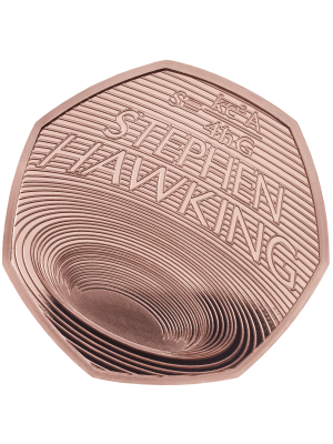 2019 Stephen Hawkings Royal Mint Gold Proof 50p Fifty Pence Coin Limited issue of only 400 made