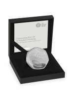 2019 Stephen Hawkings Royal Mint Silver Proof Piedfort 50p Fifty Pence Coin