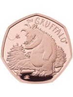 2019 Gruffalo And Mouse Gold Proof 50p Fifty Pence Royal Mint Coin Low Mintage