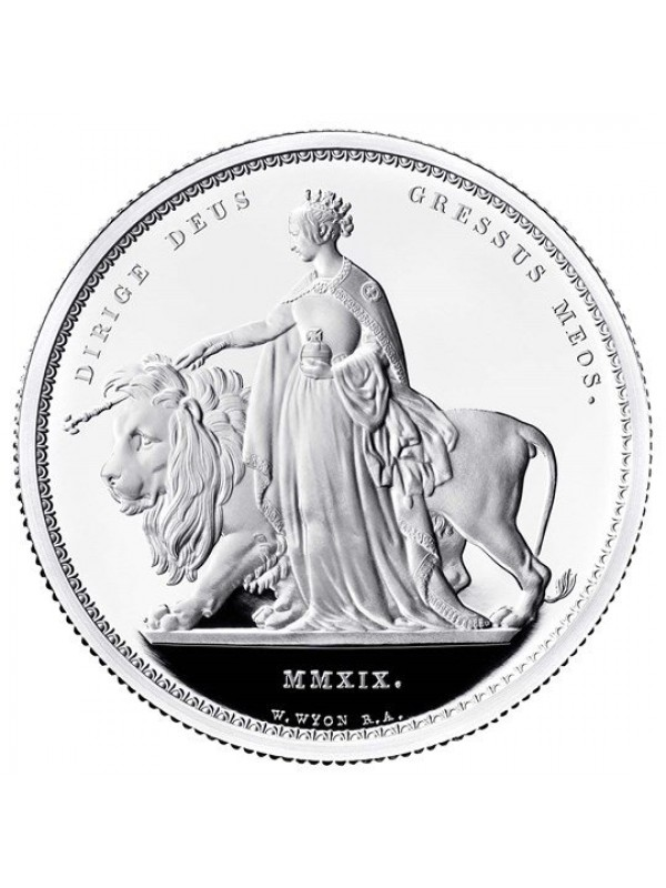 Una and The Lion Two Ounce Silver Proof Five pounds Coin New release coin from the Royal Mint that mirrors that of the original Pre - order