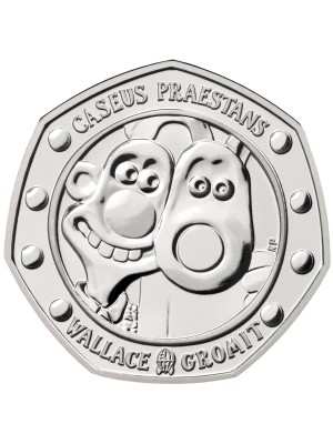 2019 Wallace And Gromit BU 50p Fifty Pence  Royal Mint Coin Pack
