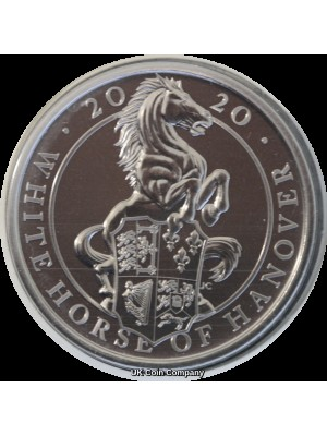 2020 White Horse Of Hanover Queens Beasts Brilliant Uncirculated £5 Five Pound Royal Mint Coin Pack