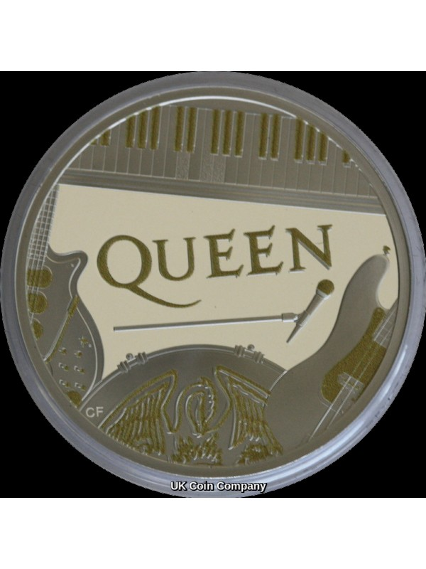 2020 Queen Music Legends Royal Mint One Ounce Silver Proof £2 Two Pound Coin
