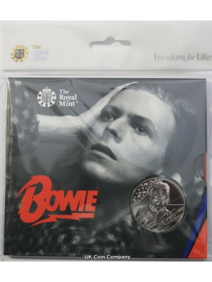 2020 Music Legends David Bowie Royal Mint Brilliant Uncirculated £5 Coin Pack