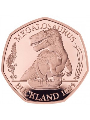 2020 Megalosaurus Dinausaur Solid Gold Proof 50p Fifty Pence Royal Mint Coin