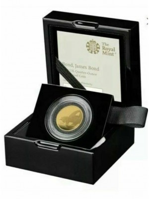 2020 Royal Mint Gold Proof 1/4 Oz James Bond 007 £25 Coin