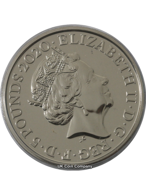 2020 King George III £5 Five Pounds Brilliant Uncirculated Royal Mint Coin