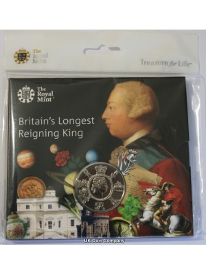 2020 King George III £5 Five Pounds Brilliant Uncirculated Royal Mint Coin Pack