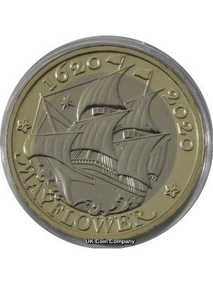 2020 Mayflower Brilliant Uncirculated £2 Two Pound The Royal Mint Coin Pack