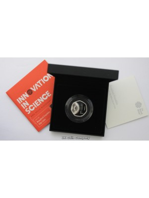 2020 Rosalind Franklin Silver Proof 50p Fifty Pence Royal Mint Coin Brand New