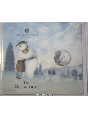 2020 The Snowman Royal Mint Fifty Pence BU Coin Pack