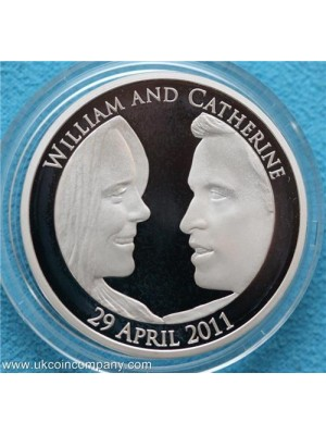 2011 Royal Wedding Silver Proof Piefort £5 Crown Coin Boxed With Cert Low mintage