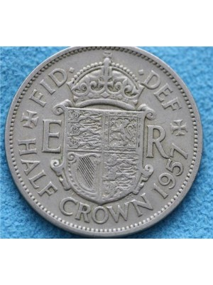 1957 Queen Elizabeth II Half Crown Coin