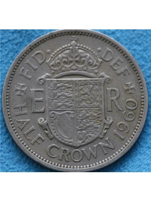 1960 Queen Elizabeth II Half Crown Coin