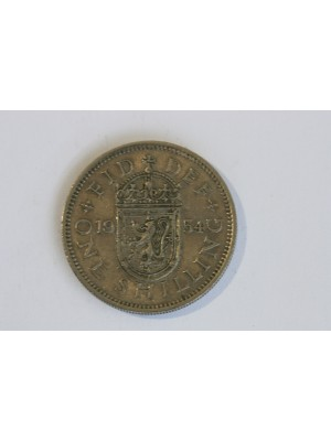 1954 Queen Elizabeth II Scotish Shilling Coin