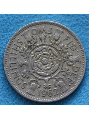 1962 elizabeth ii two shillings coin