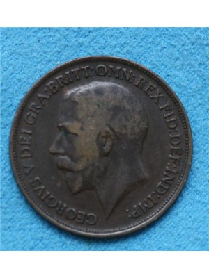 1917 george v one penny coin