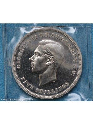 1951 George VI Five Shillings Coin