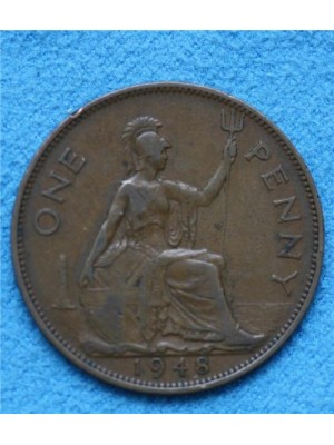 1948 george vi one penny coin