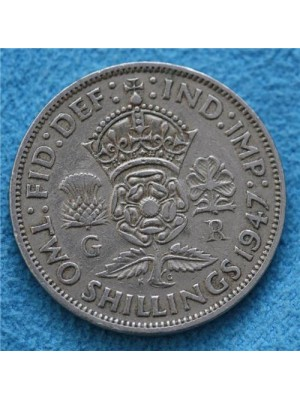 1947 george vi two shillings coin