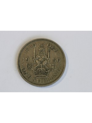 1950 George VI One Shilling Coin