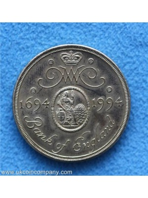 1994 royal mint tercentenary of the bank of england two pound coin