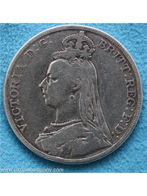 1889 Queen Victoria Jubilee Head Silver Crown Coin