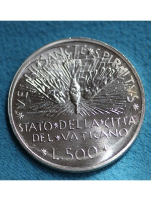 1978 Vatican City 500 Lire Silver Brilliant Uncirculated Coin