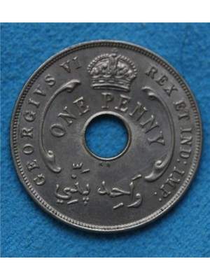 1946 George Vi British West Africa One Penny Coin