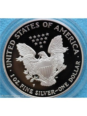 1997 american 1oz silver proof liberty eagle one dollar coin