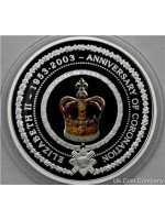 2003 australia golden jubilee one dollar fine silver proof crown coin