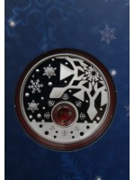 2012 australia christmas locket 1oz silver proof $1 one dollar coin pack